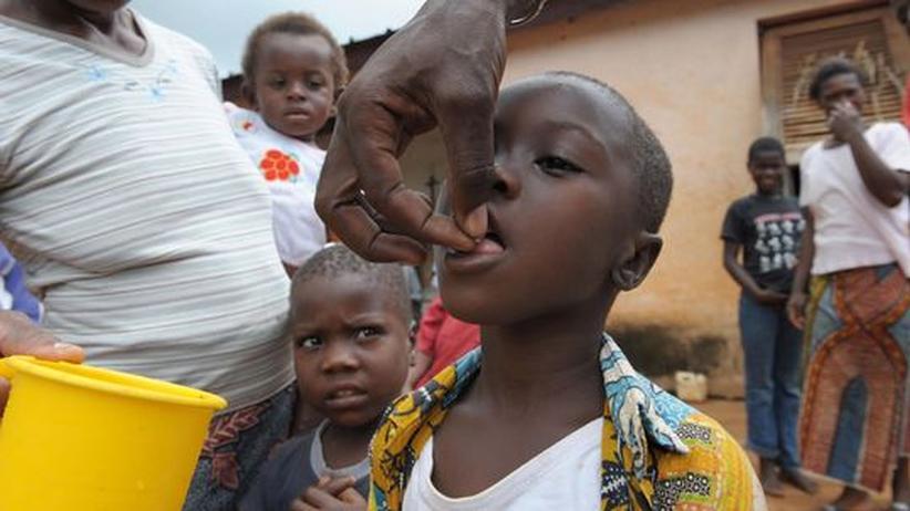 Afrika Wurm Parasit Medizin blind