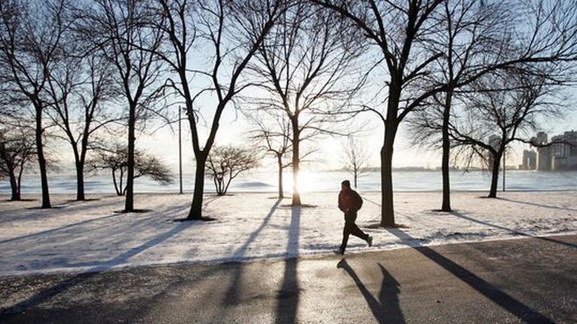 Minusgrade: Ohne Schnaps, aber gut gepolstert durch die Kälte