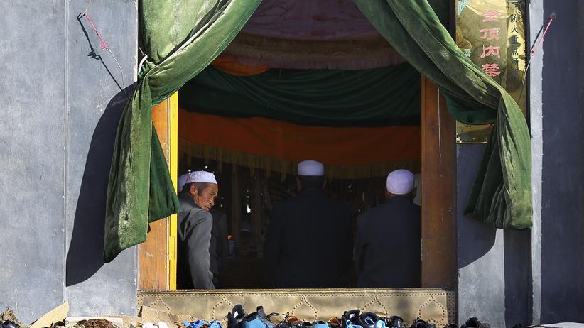 Eine Moschee in der chinesischen Stadt Yumen, im Westen des Landes
