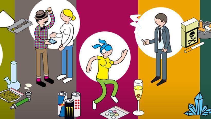 (K)eine Anleitung zum Drogennehmen: Klicken Sie hier für die Ergebnisse des ZEIT-ONLINE-Drogenberichts 2015.