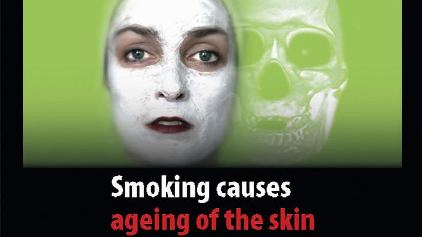 Zigaretten: Die Europäische Kommission schlägt dieses Bild als ein mögliches Schockfoto auf Zigarettenschachteln vor.