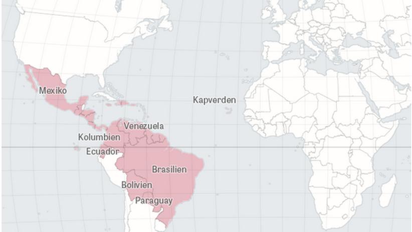 Epidemie: Diese Länder sind vom Zika-Virus betroffen