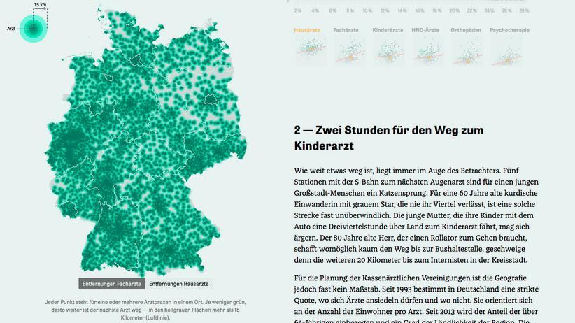 """""""Geld zieht Ärzte an"""": ZEIT-ONLINE-Projekt für den Grimme Online Award nominiert"""