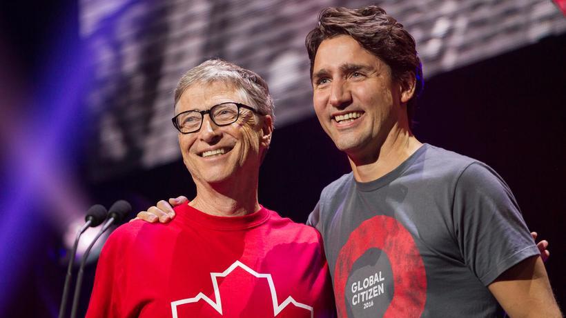 Globaler Fonds: Bill Gates und der kanadische Premier Justin Trudeau in Montreal