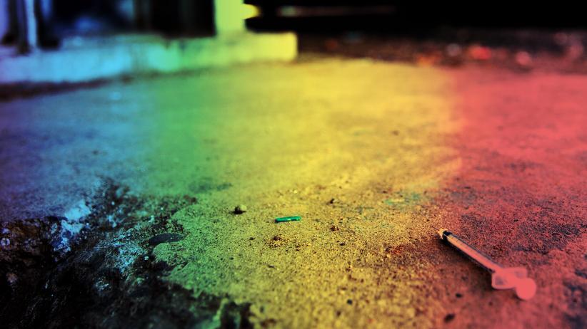 Europäischer Drogenbericht: Eine Heroinspitze auf der Straße, fotografiert in der US-Stadt Philadelphia, Pennsylvania