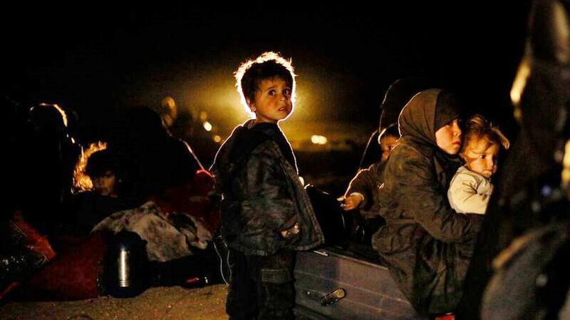 Psychische Erkrankungen: Syrische Kinder und Frauen werden unter großer Angst evakuiert, Feburar 2019.