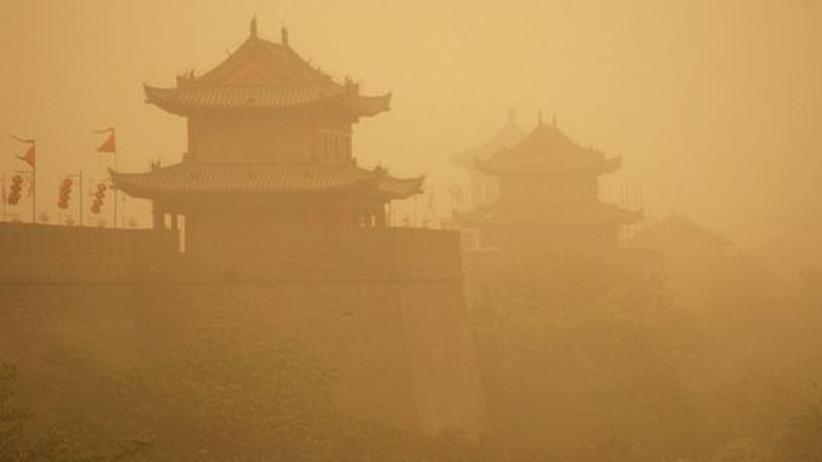 Umwelt China Klima Katastrophe Natur Klimawandel
