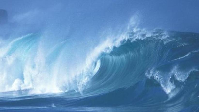 Schallkurve des Meeres