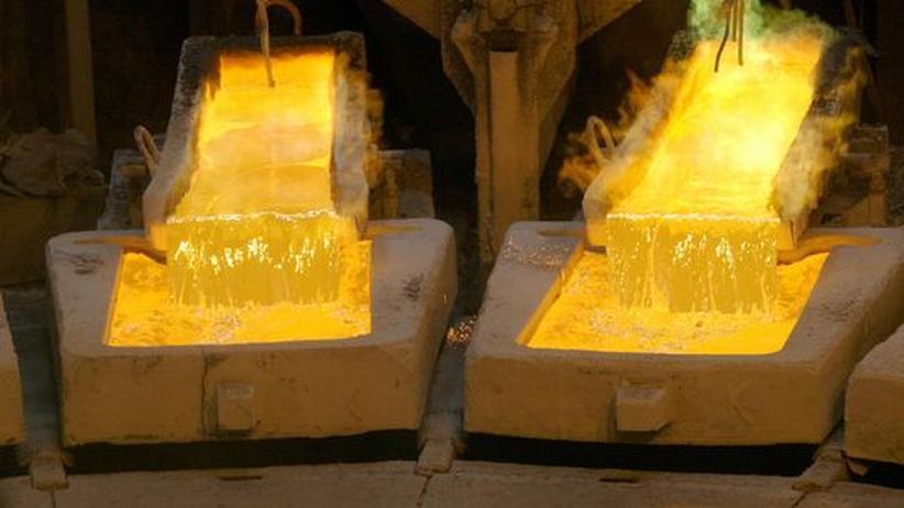 Kupfer in der Gießerei der Chuquicamata-Mine in Chile