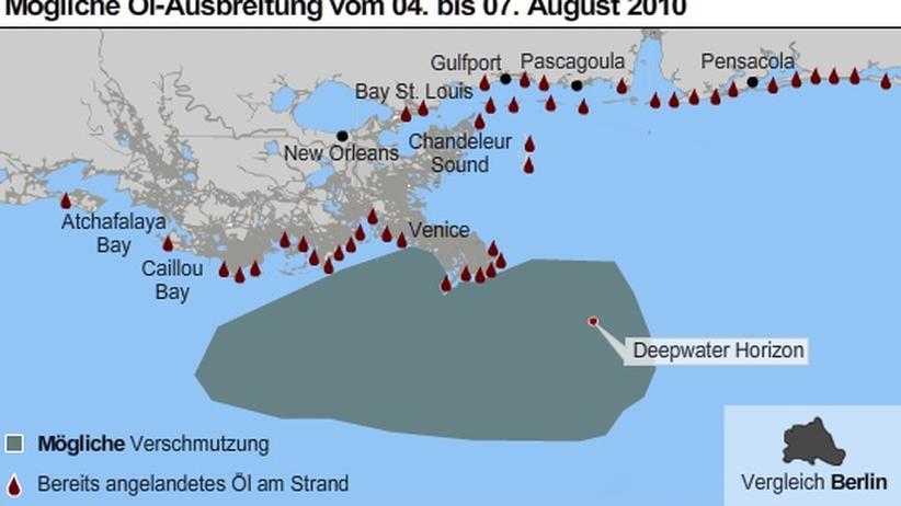 Golf von Mexiko: Ölteppich erreicht die Küste der USA