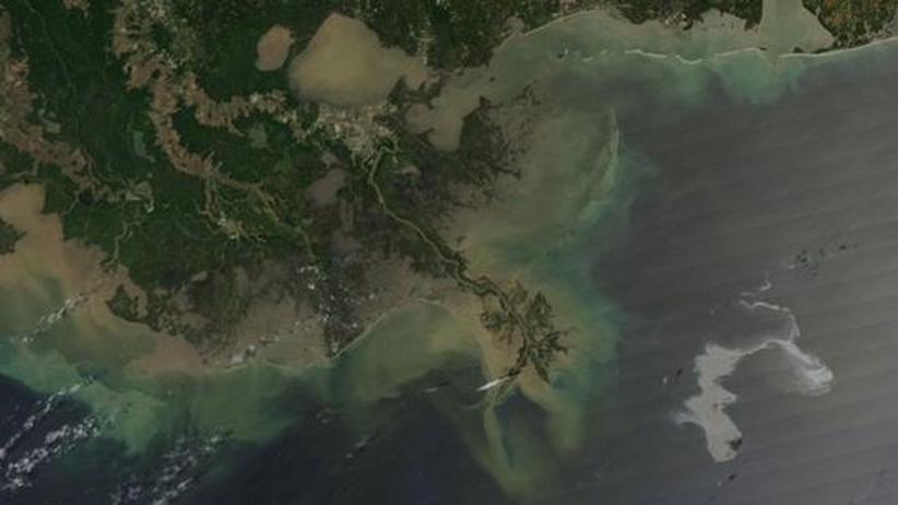 Ölteppich im Golf von Mexiko: Ölteppich vor dem Mississippi-Delta