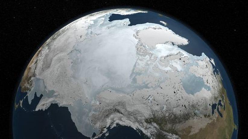 Die Meereisdecke in der Arktis im März 2010