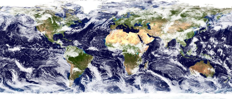 Ansicht der Erde Sattelitenbild