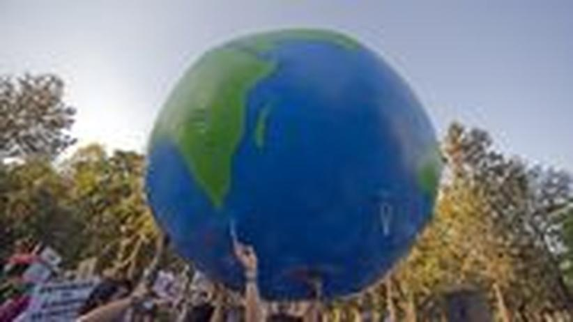 Umweltaktivisten demonstrieren in Mexico City für mehr Klimaschutz