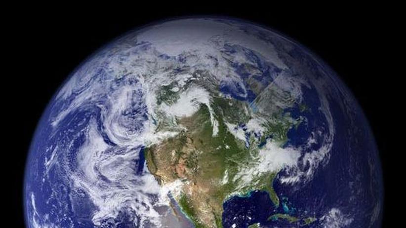 Visualisierung des Erdglobus