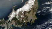 Satellitenbild von Japan nach dem Beben