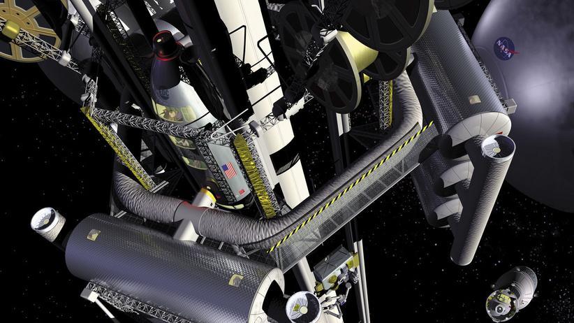 Weltraumlift-Visionäre: Auf dem Drahtseil zu den Sternen