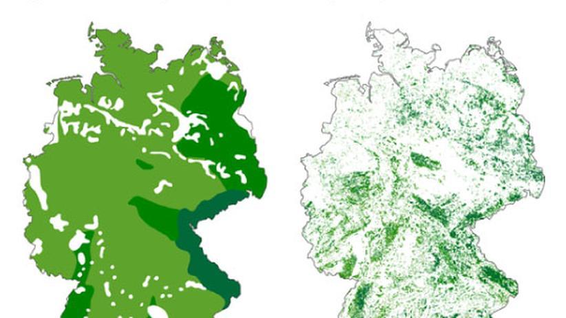 Luftkarte Deutschland