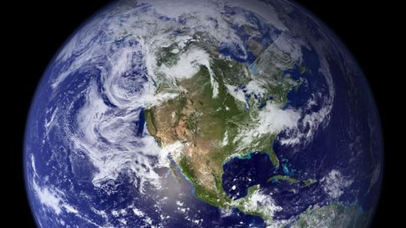 Der Planet Erde vom Weltraum aus betrachtet
