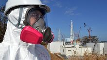Im Februar 2012 besuchten Journalisten die Anlage des havarierten Atomkraftwerks Fukushima-Daiichi.