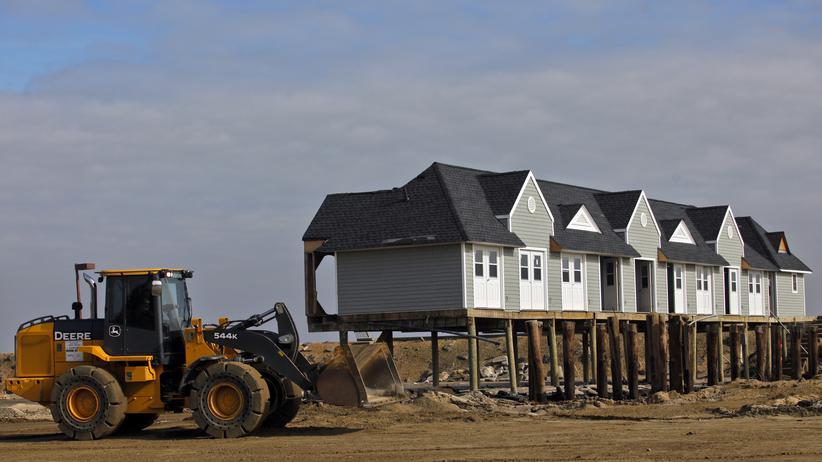Hurrikan Sandy: New York baut Häuser nun auf Pfählen