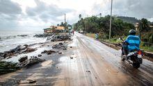 Wellen Guyana Klimawandel Flut