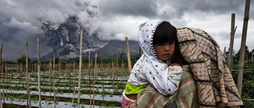 Sinabung Sumatra Vulkanausbruch