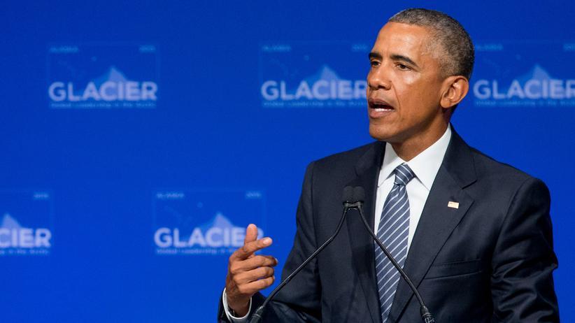 Alaska: US-Präsident Barack Obama bei einer Klimakonferenz in Anchorage, Alaska
