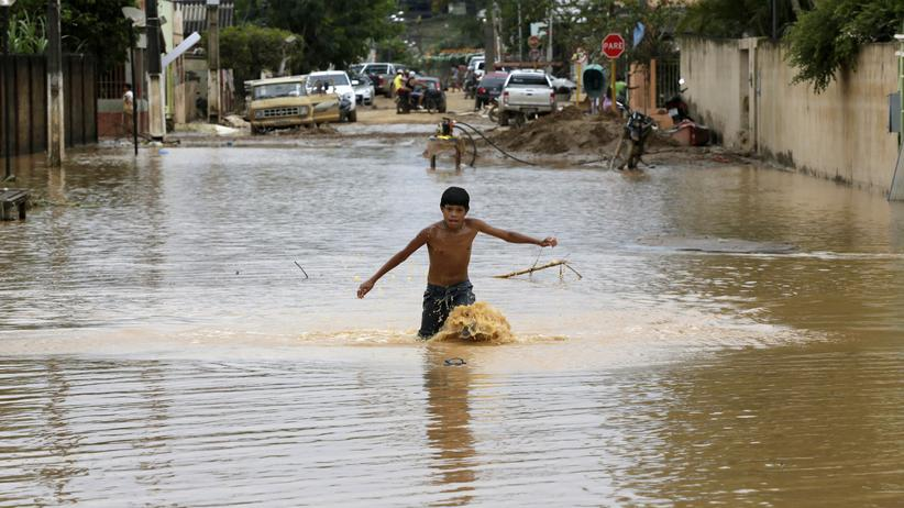Klimawandel: Eine Folge von El Niño sind Überschwemmungen, wie hier in Bolivien im Februar 2015.