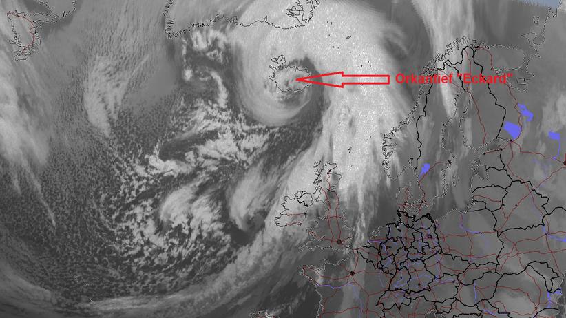 Eckard Tief Teifdruckgebiet Wetter Nordpol Rekordwärme Sturmtief Orkan Klimawandel