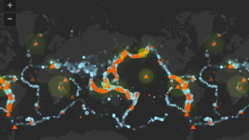 Vulkan Erbeben Weltkarte Naturkatastrophe