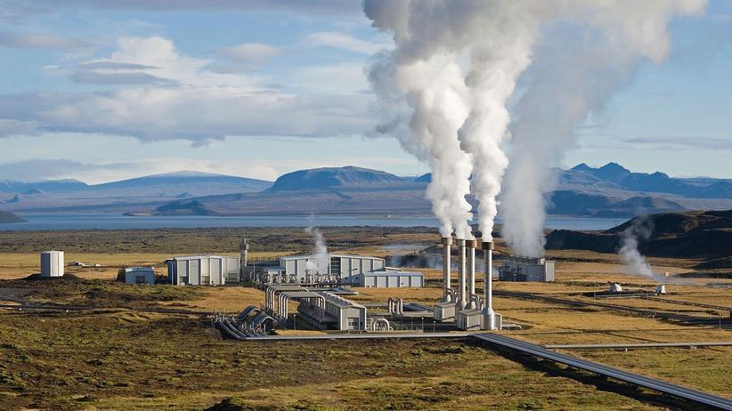 Klimawandel: Das zweitrößte geothermische Kraftwerk Islands: Nesjavellir