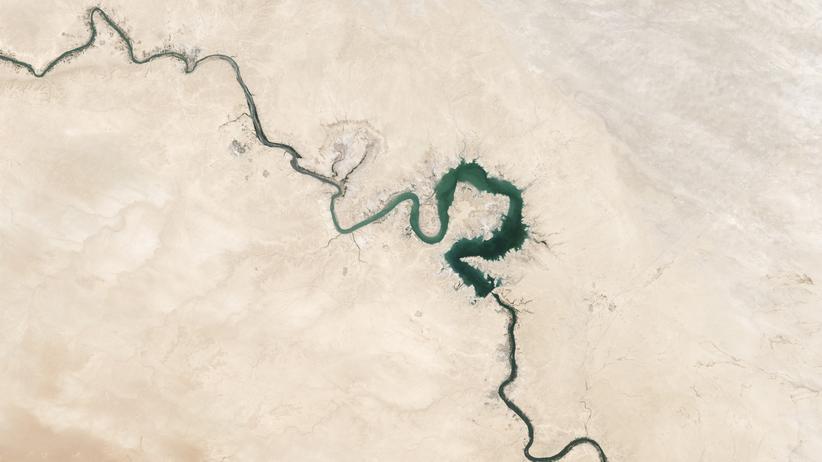 Wassermangel: Der Qadisiyah-See im Irak während einer Dürre im Jahr 2009