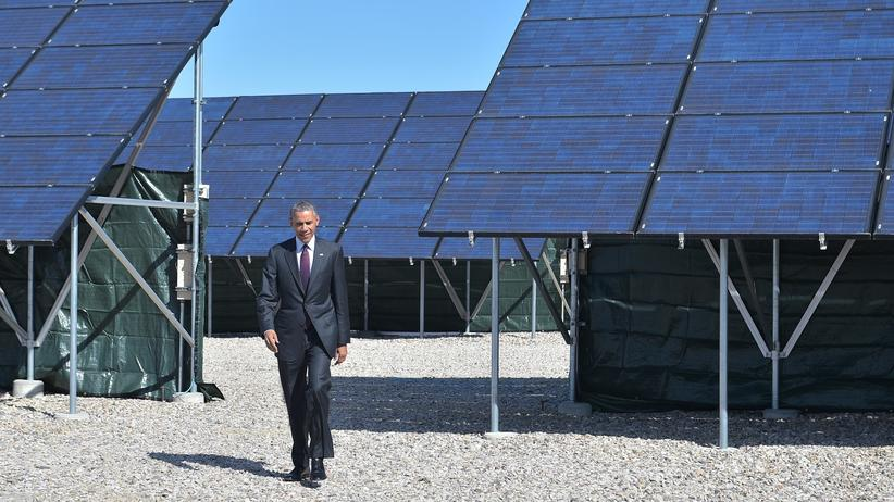 Klima Energie Barack Obama Solaranlage Erneuerbare Energien