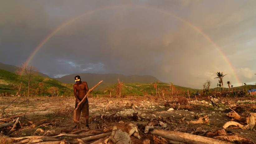 Klimawandel: Der Klimawandel verstärkt Extremwetter-Ereignisse. Länder wie Haiti, die schon heute Naturkatastrophen wie Hurrikan Matthew erleben, wird es künftig härter treffen.