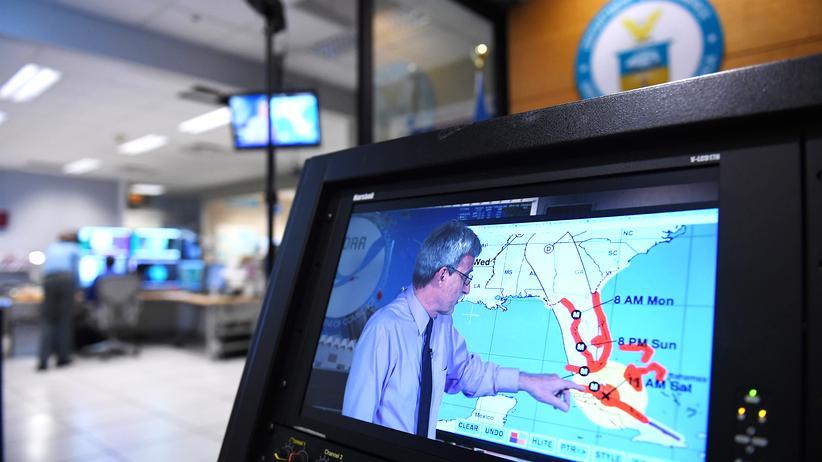 Hurrikan: Im Nationalen US-Hurrikanzentrum in Miami wird der Sturm Irma beobachtet.