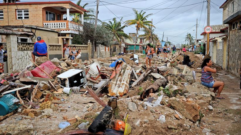 Irma: In der kubanischen Hauptstadt Havanna hat der Hurrikan Irma schwere Schäden hinterlassen.