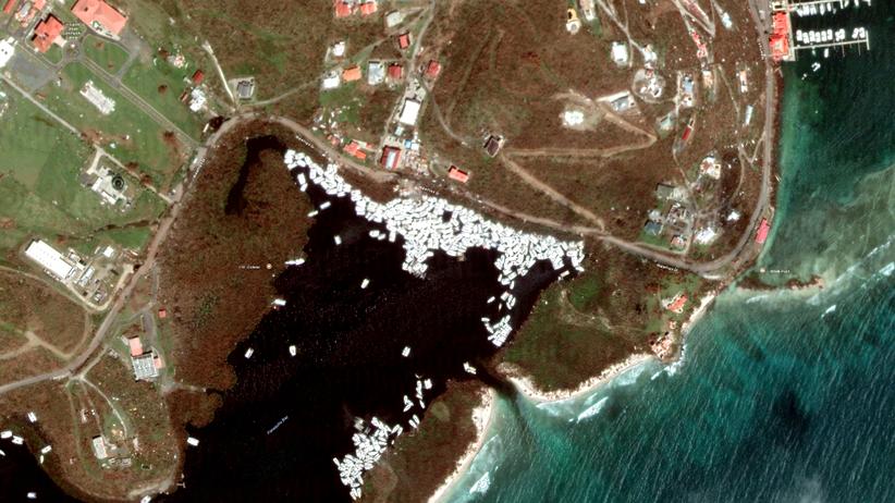 Hunderte Jachten hat Hurrikan Irma auf den Britischen Jungferninseln in die Paraquita Bay gedrückt.