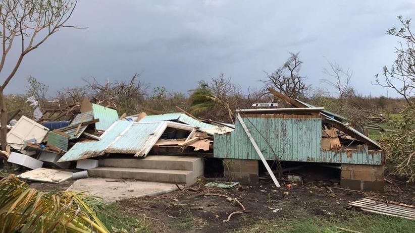 Hurrikan Irma: Barbuda ist zerstört, mehr als 90 Prozent der Infrastruktur: kaputt. Jetzt droht Tropensturm José den Schutt auf der Karibikinsel in gefährliche Geschosse zu verwandeln.