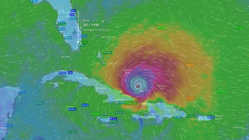 Windy.com: Maria live – diese Wetter-App trackt den Hurrikan