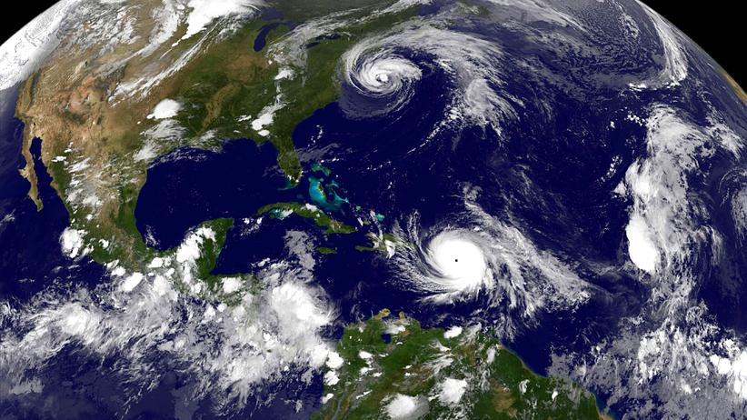 Hurrikan Maria: Hurrikan Maria wütet weiterhin über die Karibik.