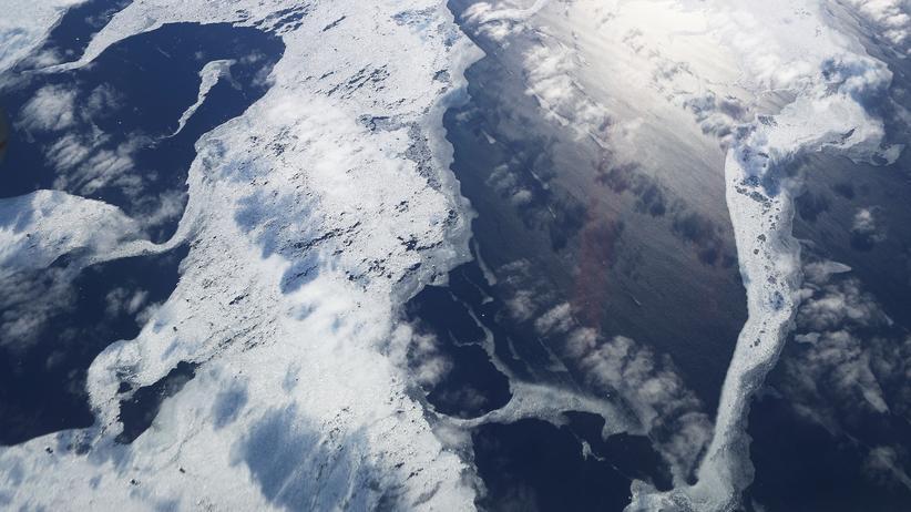 Antarktis: Eine Luftbildaufnahme der Nasa zeigt Meereseis in der Antarktis.