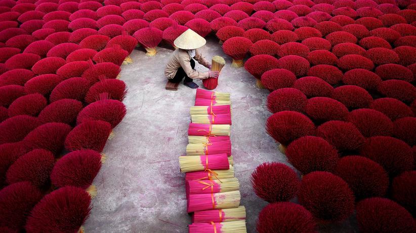 Räucherstänchen aus Bambus