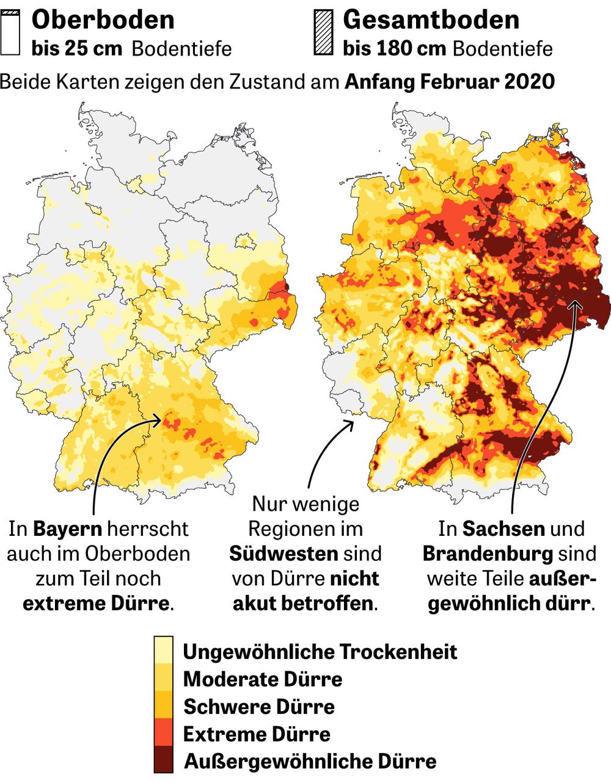 trockenheit deutschland 2020