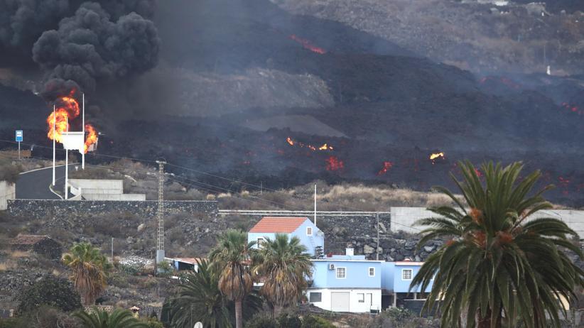 Lavastrom Vulkan La Palma Cumbre Vieja
