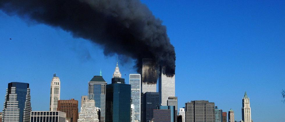 Das World Trade Center in New York am 11. September 2001