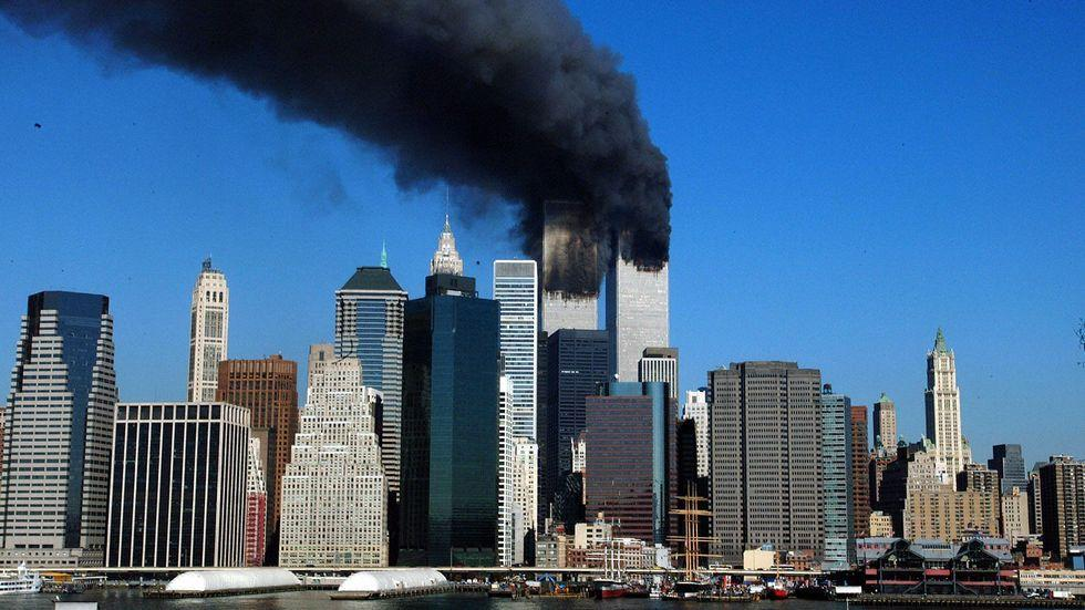 Das World Trade Center in New York am 11. September 2001