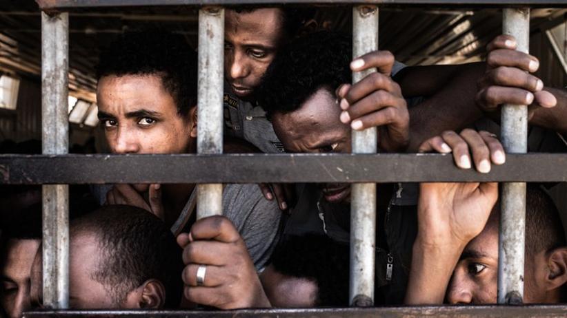 Lybien: Flüchtlinge in einem Lager in der Stadt Gharyan