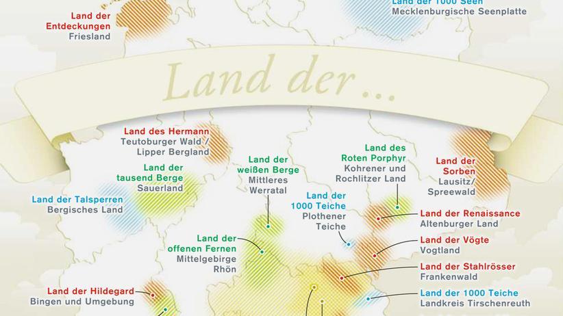 Deutschlandkarte: Im Land der 1.000 Genitive