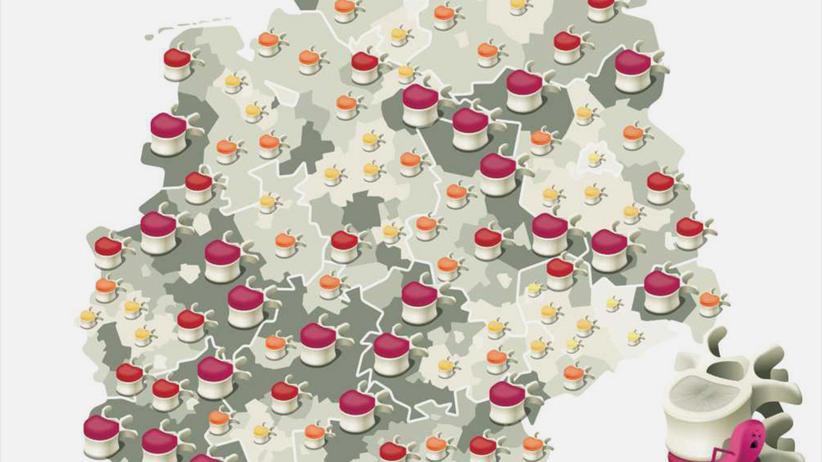 Deutschlandkarte: Ich habe Rücken